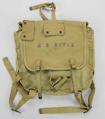 USMC M-1941 M41 Canvas Field Pack Haversack Boyt • 1942 Dated Named Marines