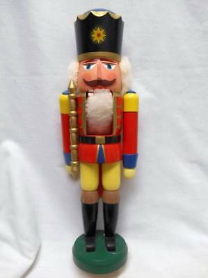 "Vintage Christmas Large ERZEBIRGE SOLDIER Nutcracker 14 3/4"" tall"