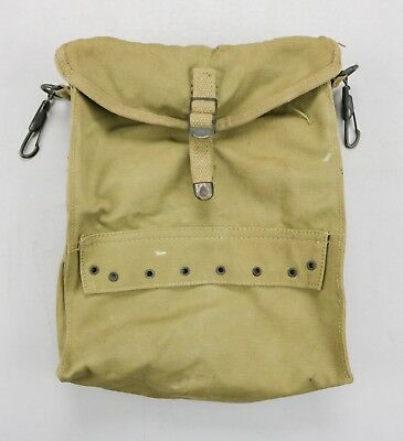 WWII US Army Medical Kit Bag Pouch Khaki Canvas • Original Medic Corpsman