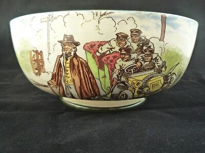 Rare Royal Doulton Motoring Seies Bowl