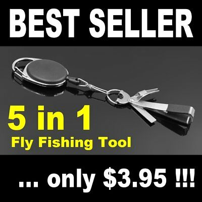 Fly Fishing Rod & Reel Tool attach to waders vest jacket for lines leaders flies