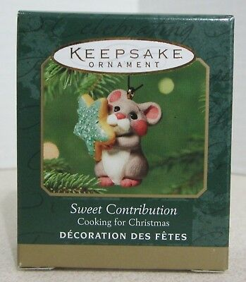 Hallmark 2001 - Cooking For Christmas - Sweet Contribution -  Miniature Ornament