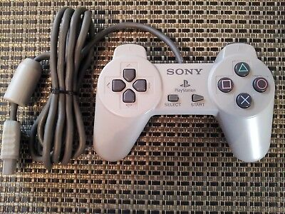 Official Sony PS1 PlayStation 1 Grey Controller Non-Dual Shock Works Well