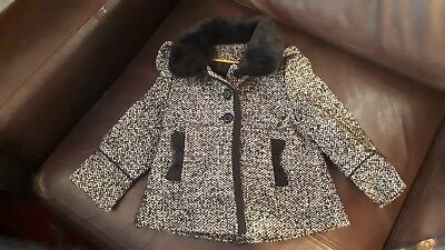Girls Black&white18-24months Coat New without Tags