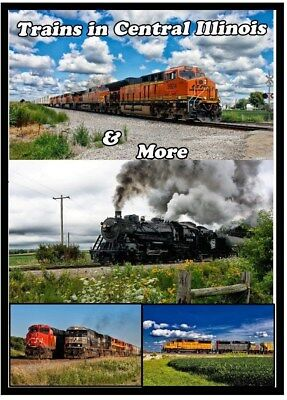 Trains in Central Illinois & More Railroad DVD Please Read BNSF UP NS CN  New!!