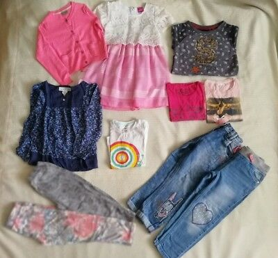 Girls Clothes Bundle Age 4-5 Next H&M ect