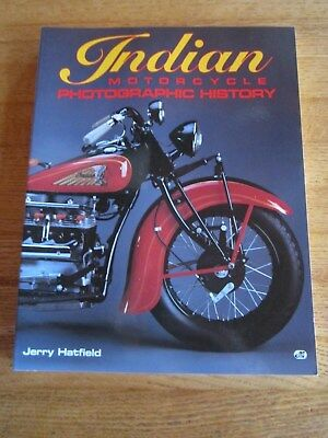 1993 Indian Motorcycle Photographic History Softcover Book Hatfield Racing