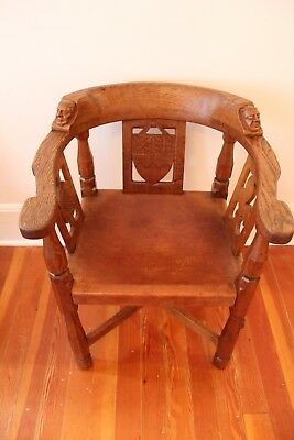 ROBERT THOMPSON 1935 MONK CHAIRS- Mouseman Hand-carved Monk Arm Chairs from York