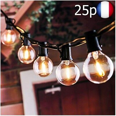 Guirlande Lumineuse Ampoules, tronsiky Guinguette Lumineuse Raccordable à 25 ...