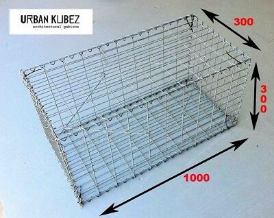 Gabion Cages & Baskets 1000x300x300, Edging | Retaining | Seating | Features