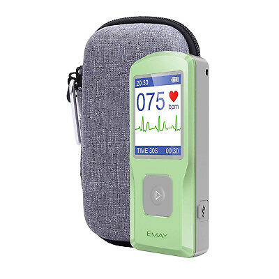 (Grey) - Hard Case for Emay Handheld ECG/EKG Monitor with Pill Organiser by