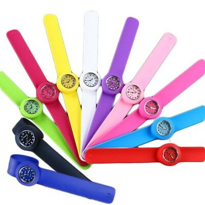 (Light Blue) - Tocosy Slap on Watch Silicone Quartz Number Sport Wrist Band