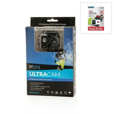 Bitmore Ultra HD 4K Action Camera Wi-Fi 5.1cm LCD Screen with SanDisk 16GB