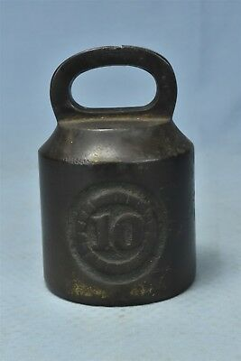 Antique CAST IRON SCALE WEIGHT MERCANTILE TRADES FACTORIES FARM HOME 10 LB 06464
