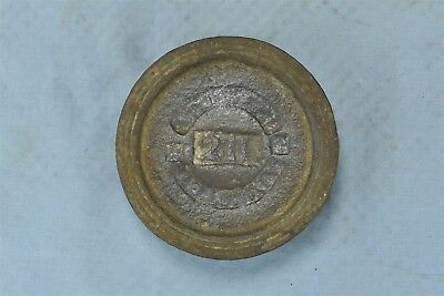 Antique CAST IRON SCALE WEIGHT MERCANTILE TRADES FACTORIES ADJUSTED 2 LB #06480