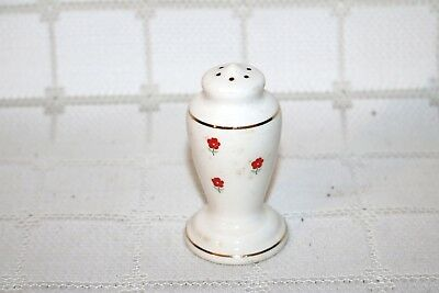W.S. George BLUSHING ROSE DALRYMPLE Lido White Red 58701 Salt & Pepper Shakers