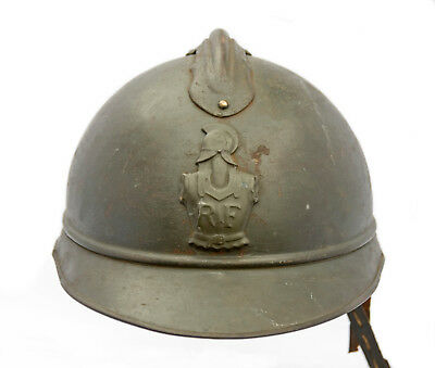 WWI French RF Adrian M15 Engineer Corps Insignia Badge Combat Trench Helmet