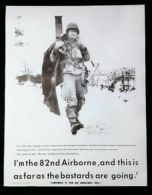 US Army 82nd Airborne Paratrooper Recruiting Poster I'm The 82nd!