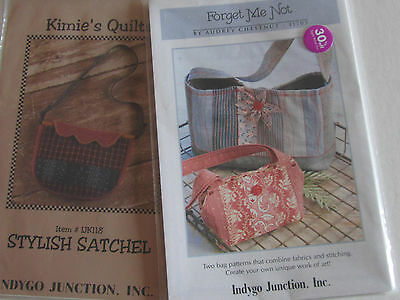 LOT OF 2 * Satchell Handbag Tote Purse Pattern * Indygo Junction Inc. - UNCUT