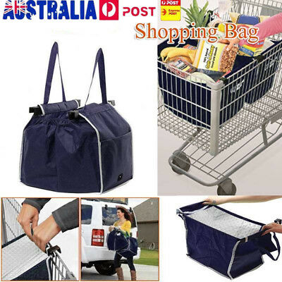 Grocery Large Trolley Clip-To-Cart Supermarket Foldable Reusable Shopping Bag