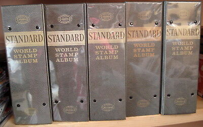 Harris Standard Stamp Album in 5 Binders Pages to 1994 With Stamps.Nice!