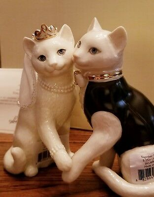 LENOX TOGETHER FOREVER CAT WEDDING NEW in BOX Cake Topper