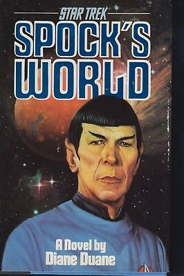 STAR TREK:  Spock's World  by D. Duane (First Pocketbooks Trade Hardcover, 1988)