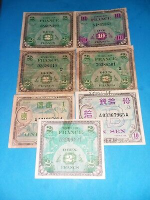 Lot 7/ WWII US Military Payment Certificates MPC French Japanese Series 1944 100