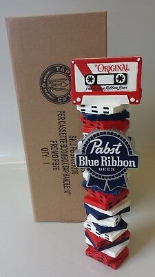 Pabst Art Beer Tap Handle - PBR Cassette - Brand New In Box Knob - FREE S/H