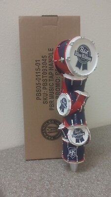 Pabst Art Music Beer Tap Handle - PBR Drums - Brand New In Box Knob - FREE S/H