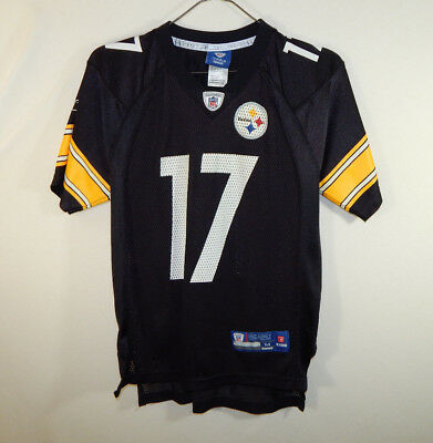 Mike Wallace Pittsburgh Steelers NFL Football Jersey Reebok Size YOUTH  MEDIUM M 0b12155df