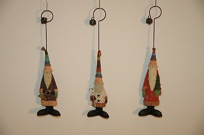 *Brand-new In Box*  WILLIRAYE STUDIO  Shades of Santa Ornaments (set of 3)