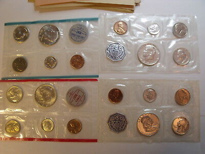 1963 & 1964 Silver 5 Coin PROOF Sets and 1964 US Mint Set Denver Philadelphia