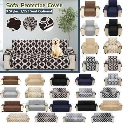 1/2/3 Seat Waterproof Pet Dog Sofa Couch Cover Removable Furniture Protector Mat