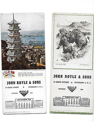 lot 2 dif vintage Paterson New Jersey Ink Blotters Royle & Sons