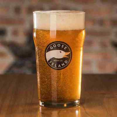 2 Pack of Goose Island Beer Company 16.oz Pint Style Glasses, CLOSE OUT SPECIAL
