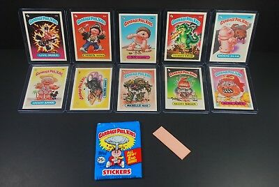 (10) Vtg 1985 Topps Garbage Pail Kids 2nd Series NM-MT Cards & Empty Wrapper Lot