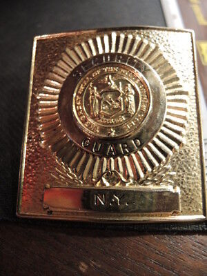 Vintage Obsolete Security Services/ Police badge/  Security Guard/New York/Gold