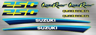 1989 -1990 suzuki Quadracer 8pc LT250R, LT250 Decals stickers graphic kit