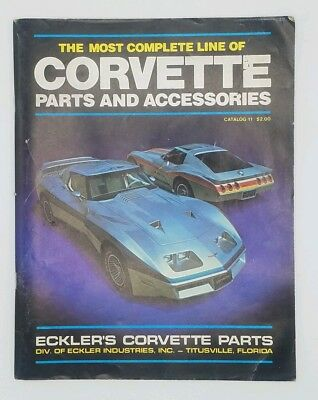 Vintage 1980 Ecklers Corvette Parts & Accessories Catalog #11 Chevrolet Chevy