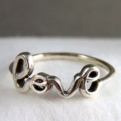 ONLY LOVE Size US 7 (O) SILVERSARI Ring Solid 925 Sterling Silver