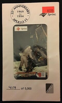 25Th Anniversary Apollo 11 - $8.00 Usa Sprint Phone Card - (Lander) 4179 Of 5000