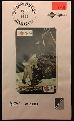 25Th Anniversary Apollo 11 - $8.00 Usa Sprint Phone Card - (Lander) 4176 Of 5000