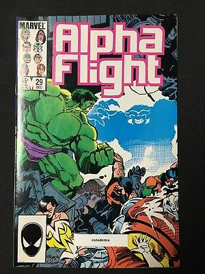 ALPHA FLIGHT #29 SIGNED by MIKE MIGNOLA MARVEL COMICS 1985 NM