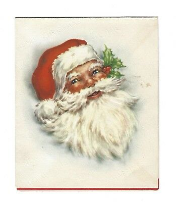 vintage 1949 merry christmas happy new year card santa claus ohio postal cover