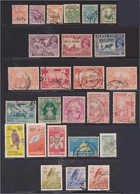 (Q29-2) 1950-60s Burma mix of 26 stamps valued to 50p (B)
