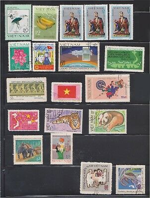 (Q28-18) 1970-80s Vietnam mix of 27 stamps value to 50XU (P)