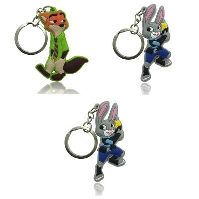 3PCS Zootopia Chain Key Ring Kids Toy Key chain Key Holder Charms Small Gift