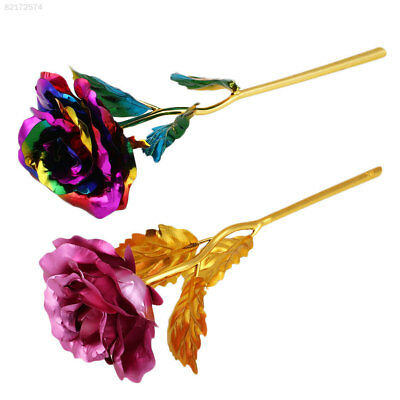 97A7 Elegant Romantic 24K Golden Gilded  Rose Festive Party Supplies Gifts pink
