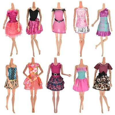 10-Pack Barbie Doll Clothes Handmade Wedding Dress Party Gown Clothes Outfits